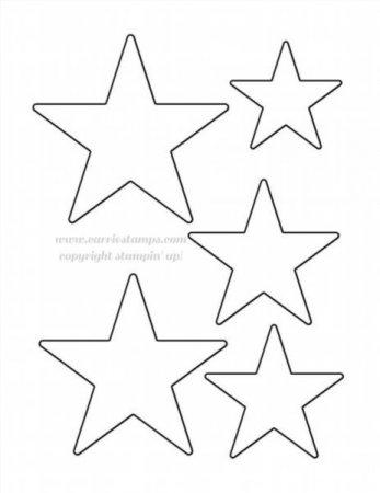 трафарет звезды на бумаге