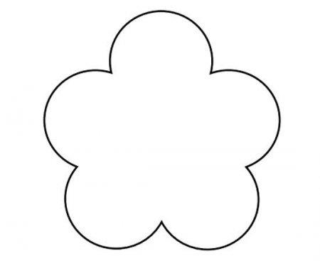 Лепестки цветов шаблоны из бумаги распечатать