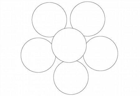 Шаблон цветка 6 лепестков для вырезания распечатать