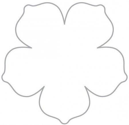 Макет цветка для вырезания