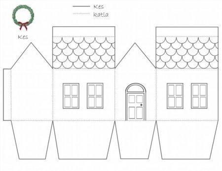 Как сделать из бумаги домик для