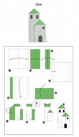 Схемы домик из бумаги схемы для