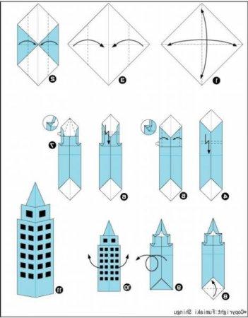 Домик из бумаги и как сделать