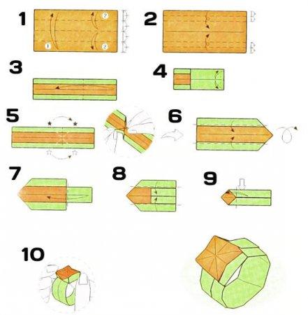 Как сделать кольцо из бумаги для детей