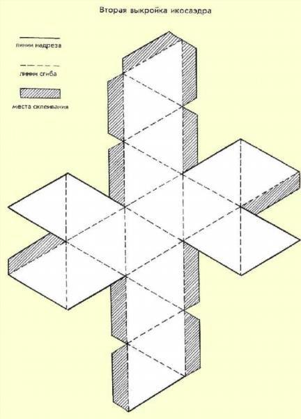 469Схемы многогранников из бумаги как сделать