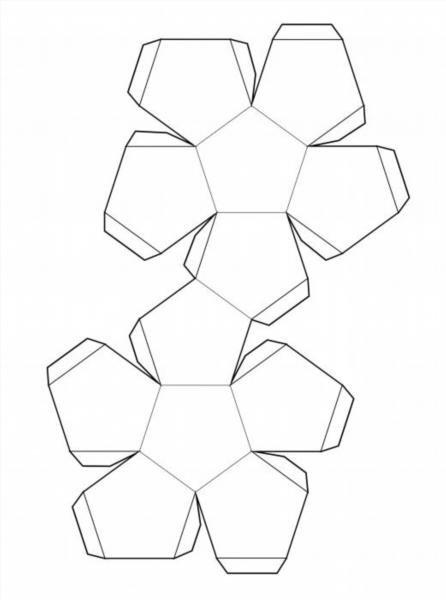 Как сделать из бумаги додекаэдра