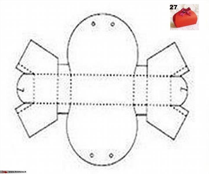 Коробочки своими руками из картона схемы с размерами