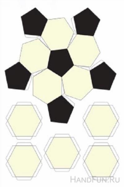 Футбольный мяч своими руками из бумаги схема 27