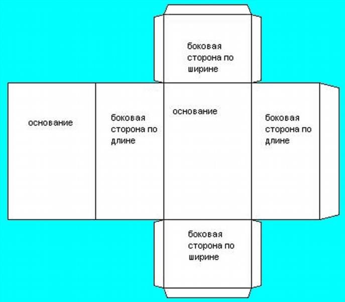 Как из картона сделать параллелепипед