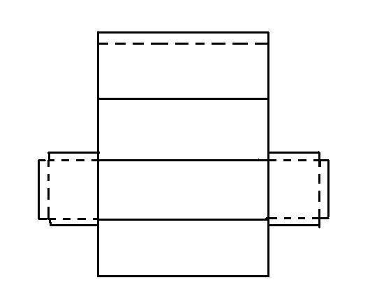 Как сделать прямоугольник объемный из картона