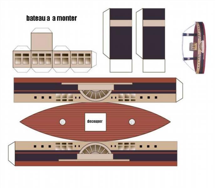 Корабль из бумаги схемы