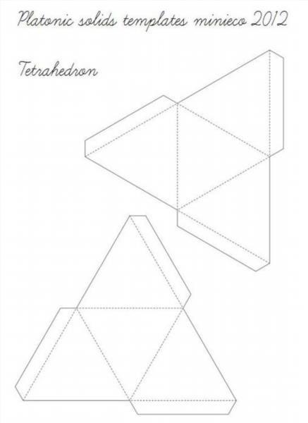 Как сделать объемные фигуры из бумаги своими руками схемы шаблоны 3