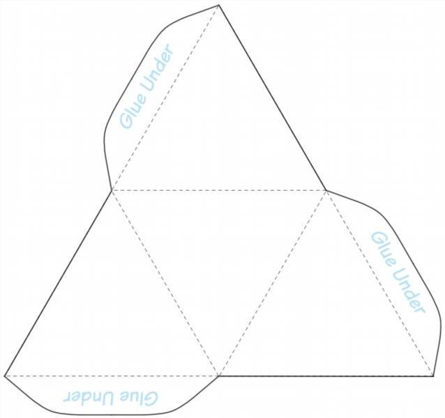 Как из бумаги сделать треугольную пирамиду 136