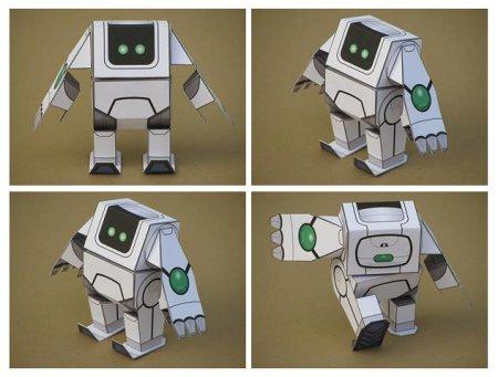 Схема робота из бумаги 118