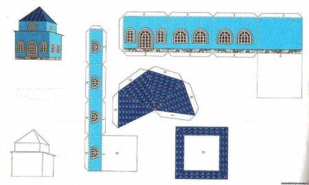 Церковь из бумаги схемы