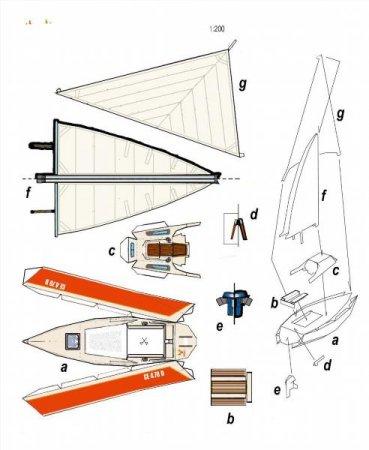 Модель катера своими руками из бумаги